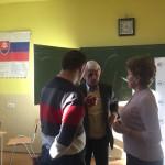 Mikuláš Dzurinda počas rozhovoru s učiteľmi z Gymnázia